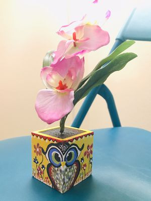 Orchid flower vase for Sale in Quincy, MA