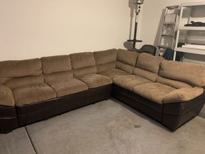 Large microfiber section couch for Sale in Phoenix, AZ