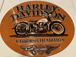 Harley-Davidson® Embossed Timeless Vintage Motorcycle Tin Sign, Orange for Sale in Fond du Lac, WI