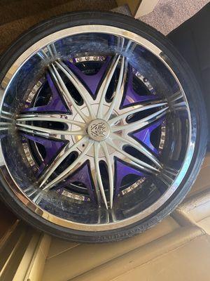 24 inch rims for Sale in North Providence, RI