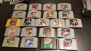 Nintendo 64 games, reprinted labels. Mario, banjo, 007, donkey, castlevania, party, kombat, yoshi, zero for Sale in Miami, FL