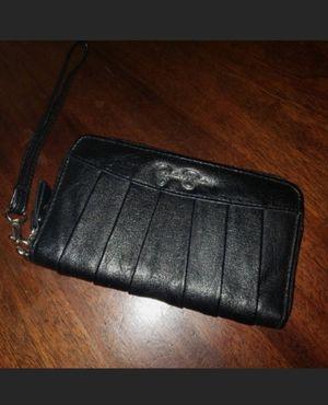 Jessica Simpson Black Leather Wristlet for Sale in Abilene, TX