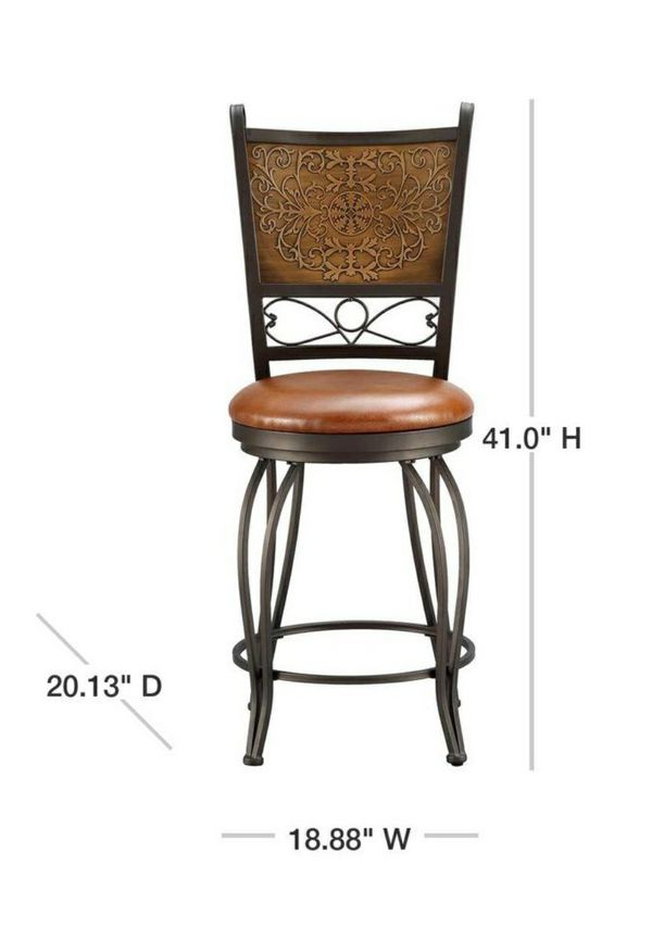 New Bronze and Copper Cushioned Bar Stool by Powell Company