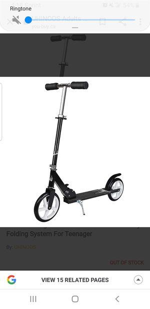 New Uninnos Scooter Big wheel kick black for Sale in Clovis, CA