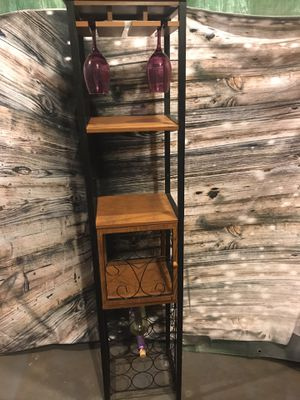 Wine and glasses rack for Sale in Chicago Ridge, IL