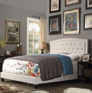 Upholstered panel queen bed frame for Sale in Alexandria, VA