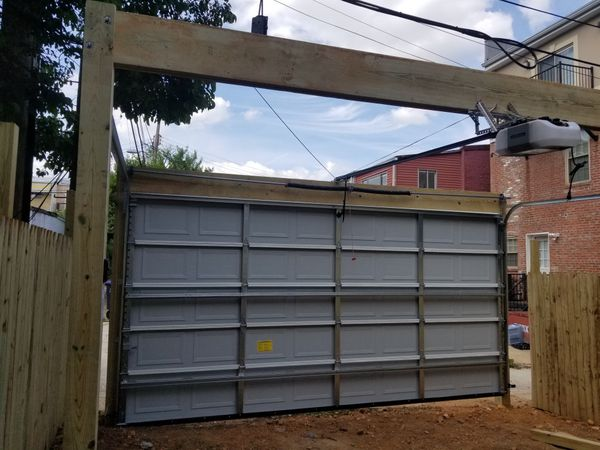 Garage doors and fence