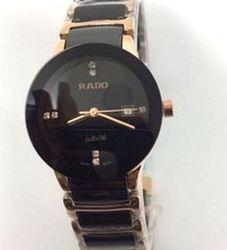 LADIES' RADO CENTRIX DIAMONDS BLACK CERAMIC AND GOLD-TONE WATCH for Sale in Boston,  MA