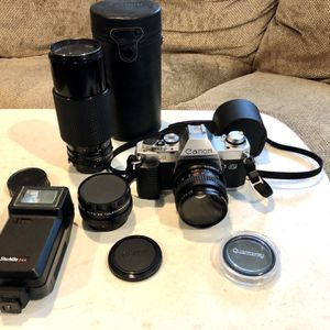 35 MM Canon Camera With Lenses for Sale in Kings Park, NY