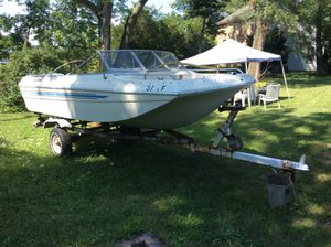 Winter project ,Century Boat with trailer & 135 HP Johnson outboard for Sale in Allison Park, PA