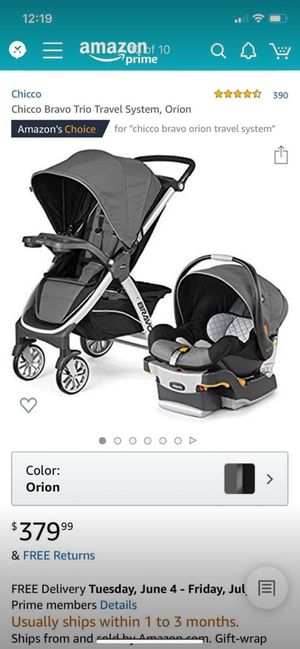 Chicco Bravo travel system for Sale in Joint Base Lewis-McChord, WA