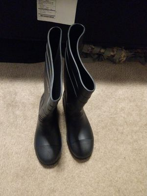 Steel toe chemical boots, size 12 for Sale in Hurst, TX