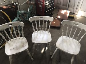 Solid wood antique chair set of 3! for Sale in Tacoma, WA