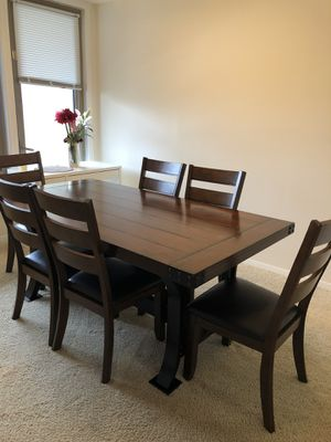 Dinning table (with six chairs) complete set for Sale in Alexandria, VA