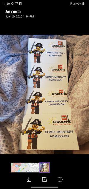 4 legoland tickets. for Sale in Sanford, FL