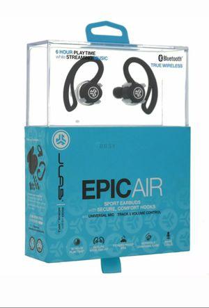 JLab Audio Epic Air True Wireless Bluetooth 4.1 Sport Earbuds for Sale in Corona, CA