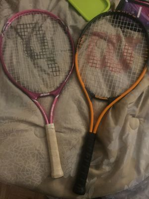 Prince and Wilson brand tennis rackets for Sale in Dallas, TX