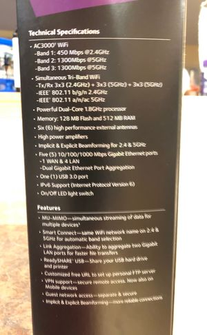 Netgear Nighthawk X6S AC3000 WiFi Router for Sale in Colorado Springs, CO