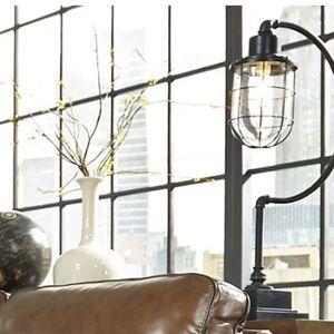 Ashley's Jae Antique Black Metal Lamp for Sale in Carson, CA