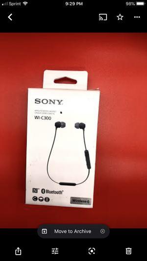 Sony WI-C300 Wireless In Ear Headphone/Black (WIC300/B) for Sale in Los Angeles, CA