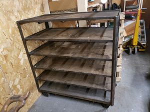 Industrial metal shelving cart for Sale in Lowell, MA