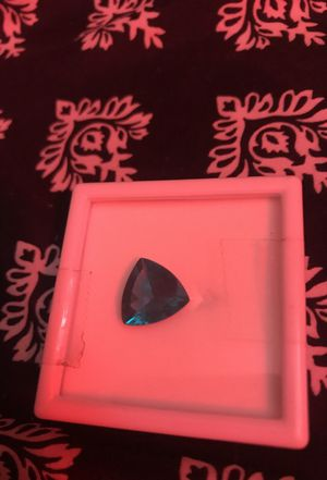 Blue Apatite Madagascar Trillion 7.26Cts for Sale in Silver Spring, MD