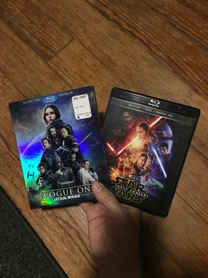 Rogue One and The Force Awakens Blue Ray!! for Sale in Wichita Falls, TX