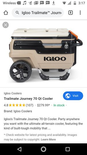 Igloo Trailmate™ Journey 70 qt. All-Terrain Cooler for Sale in Oklahoma City, OK