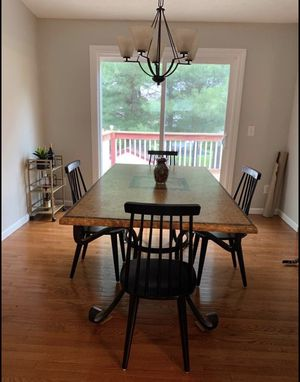 Dining Room Table with Black Iron Frame for Sale in Columbus, OH
