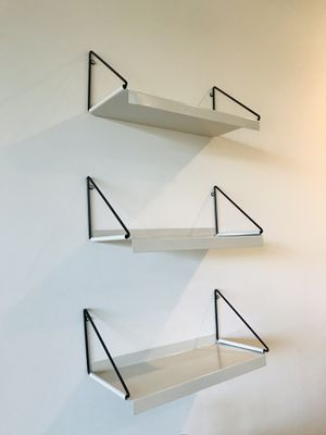 White Metal Shelves (3) for Sale in Brooklyn, NY