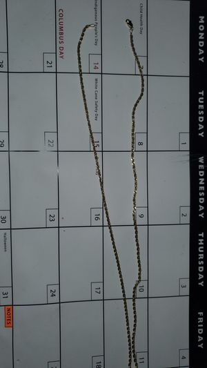 24 in. Gold chain for Sale in Madera, CA