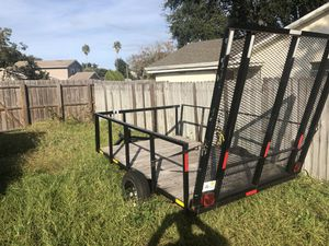 Trailer with lights and removable rails extra large steel gate easy access to drive up with mower or equipment for Sale in St. Cloud, FL