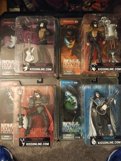 Kiss Creatures Action Figures (all 4 band members!) for Sale in Seattle,  WA
