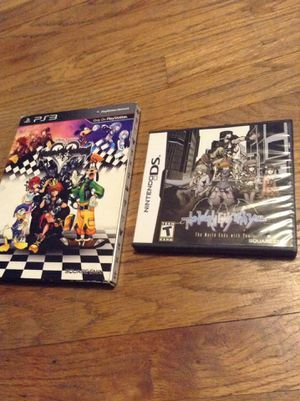 Kingdom hearts 1.5 and The world ends with you complete game cases ONE for Sale in Pico Rivera, CA