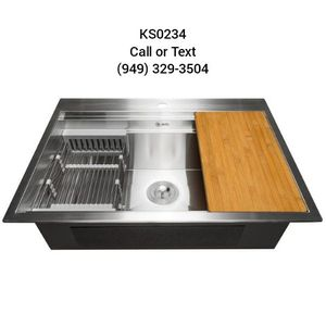 "30""x22""x9"" Drop-In Single Bowl Kitchen Sink for Sale in Irvine, CA"