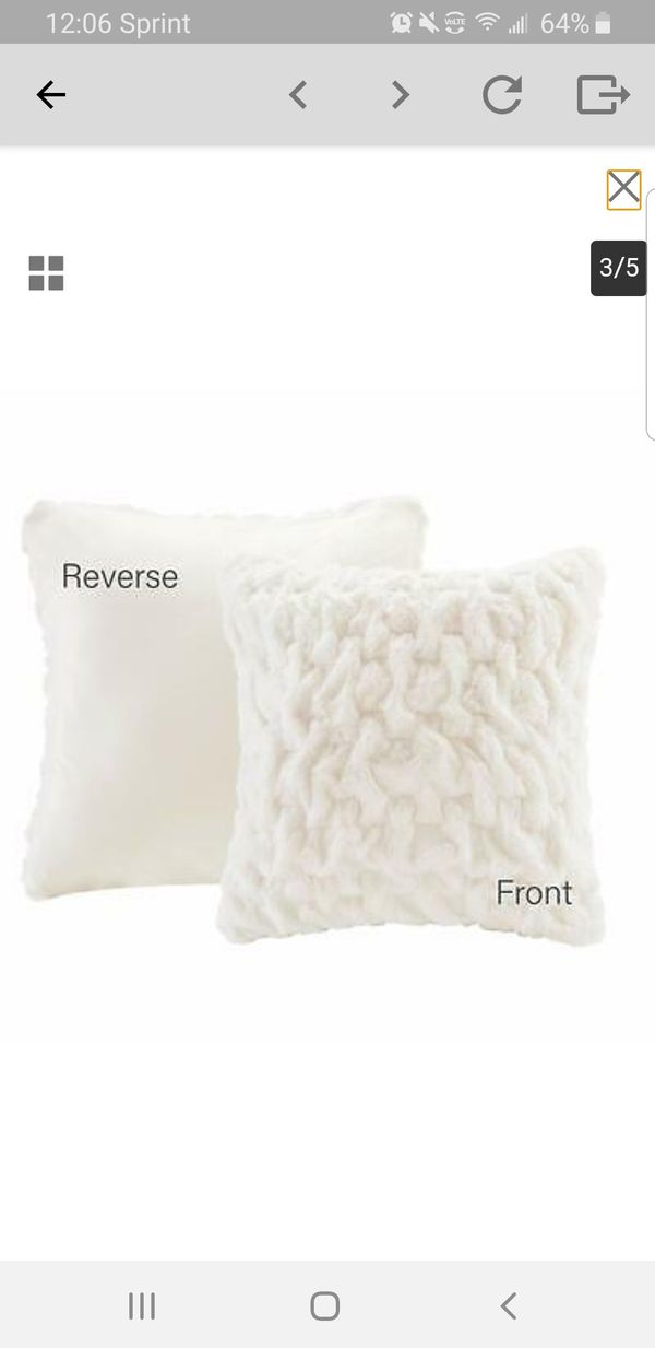 Comfort Spaces Faux Fur Throw Blanket Set – Fluffy Plush Blankets for Couch