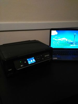 Toshiba laptop with epson color printer for Sale in Wethersfield, CT