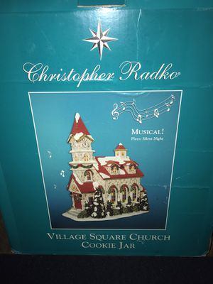 Musical Village Square Church Cookie Jar for Sale in Los Angeles, CA