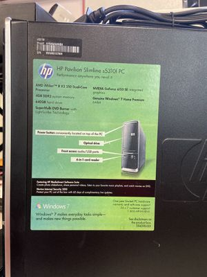 HP pavilion desktop with Windows 10 for Sale in Anchorage, AK
