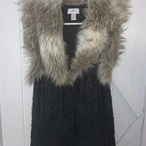 Faux Fur Sweater Vest for Sale in Yelm, WA