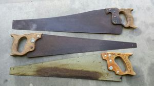 Antique wood hand saws for Sale in Saint James, MO