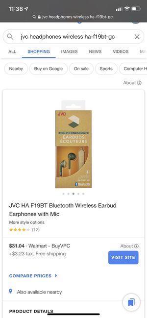 JVC wireless earbud earphones for Sale in Bothell, WA