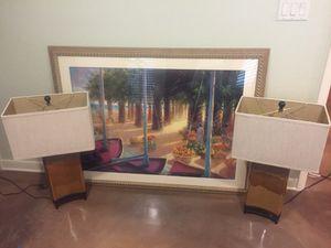 "Brand New Framed Art $50 55""width x 41"" height Brand New Lamps $80 each STUNNING! for Sale in Lakeland, FL"
