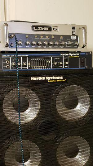 400 watt bass amp /2 Hartke speaker cabinets for Sale in Washington, MD