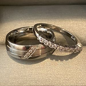Unisex Silver Engagement /Promise/ Wedding Ring Ser - Code RZ30 for Sale in Dallas, TX