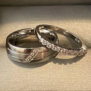 Unisex Silver Engagement /Promise/ Wedding Ring Ser - Code RZ30 for Sale in Houston, TX