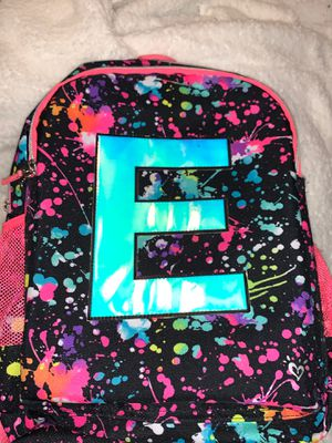 Justice initial E backpack for Sale in Mesquite, TX