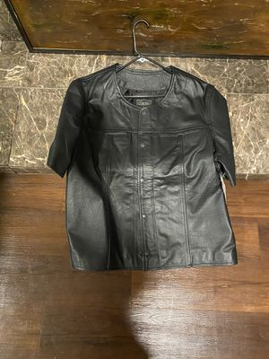 Brand new genuine leather motorcycle vest size xxl for Sale in Richmond, CA