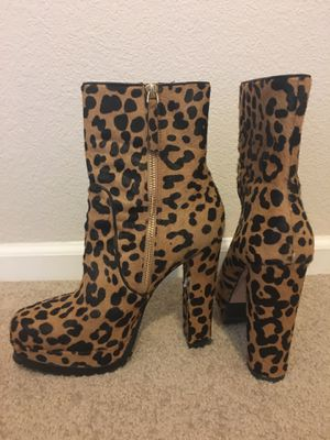 Alice & Olivia Leopard Heel Booties for Sale in Denver, CO