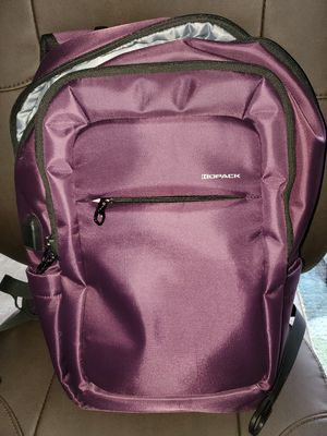 Purple laptop backpack with USB for Sale in Puyallup, WA